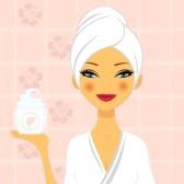 14668745-una-ilustracion-de-una-mujer-hermosa-celebracion-de-una-crema-hidratante