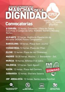 25F · MARCHAS DIGNIDAD · ESPAÑA