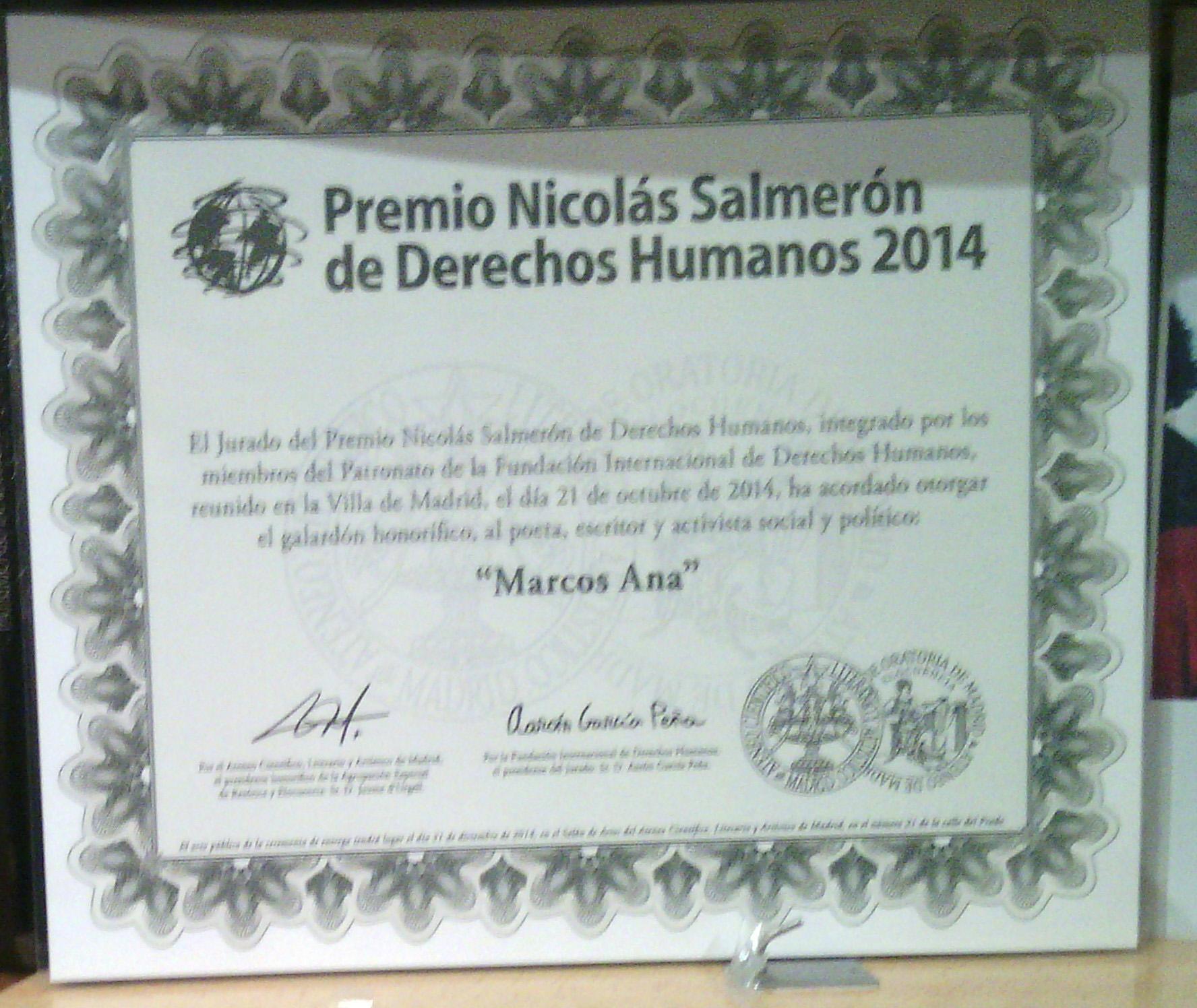MARCOS ANA - NICOLAS SALMERON